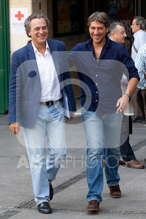 Actors Jose Coronado and Alberto Ammann present the film 'Betibu' at Cinema Princesa in Madrid. September 09, 2014. (ALTERPHOTOS / Nacho Lopez)