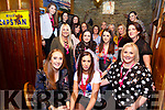Bride to be Norma Conway seated front centre from Ballrehan, Lixnaw on her Hen tour, pictured here in Mike Murts Bar Cahersiveen on Saturday with her bridesmaids left Rose Kelly & on the right Ciara Galvin along with the rest of her entourage.