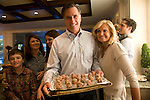 Former Gov. Mitt Romney spends a Sunday with his family (sons Tagg and Craig with their wives and children) at Tagg's house in Belmont, Mass.  With wife Anne, Belmont, MA, USA, October 30, 2011