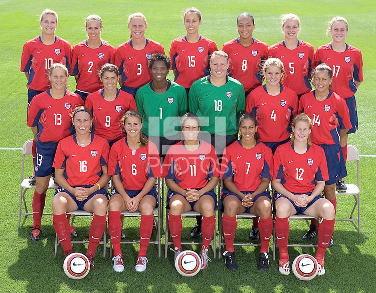 2004 USWNT Olympic team photo.