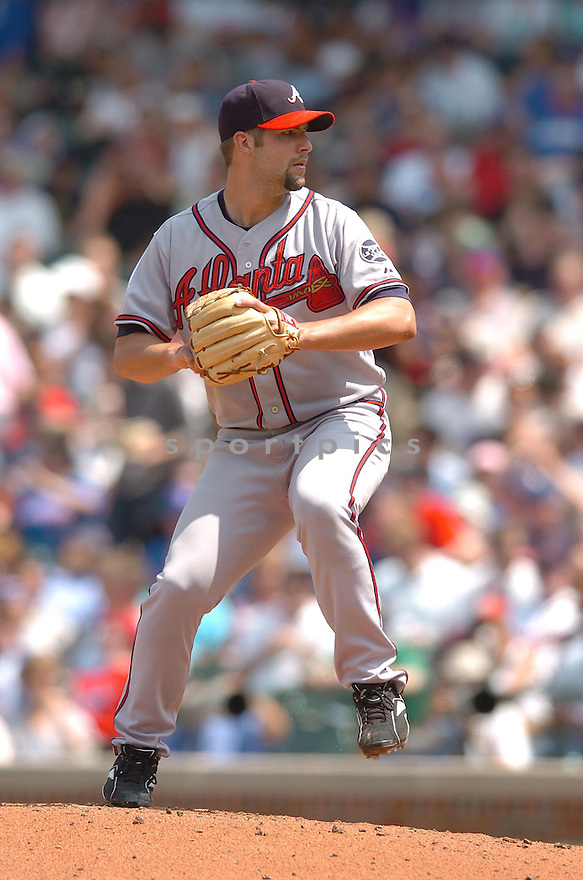 KYLE DAVIES, of the Atlanta Braves , in action during the Braves game against the Chicago Cubs in Chicago, IL, on June 2,  2007...Braves win 5-3...CHRIS BERNACCHI/ SPORTPICS..