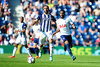 West Bromwich Albion's Matt Phillips vies for possession with Tottenham Hotspur's Danny Rose<br /> <br /> Photographer Ashley Crowden/CameraSport<br /> <br /> The Premier League - West Bromwich Albion v Tottenham Hotspur - Saturday 5th May 2018 - The Hawthorns - West Bromwich<br /> <br /> World Copyright &copy; 2018 CameraSport. All rights reserved. 43 Linden Ave. Countesthorpe. Leicester. England. LE8 5PG - Tel: +44 (0) 116 277 4147 - admin@camerasport.com - www.camerasport.com