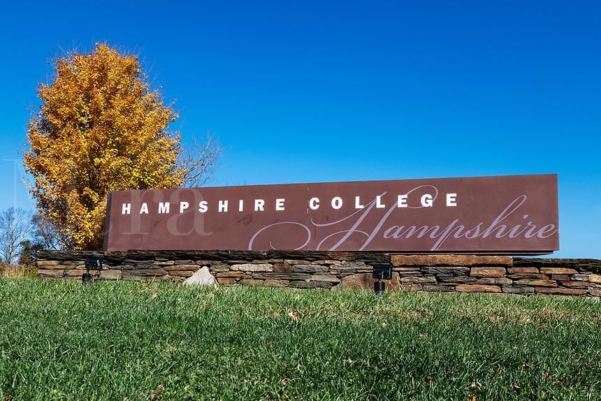 Hampshire College campus in autumn.