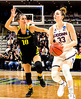 March 27, 2017 : Katie Lou Sameulson [#33] off an off night scoring only eight points but the ladies rally for an easy win 90-52 advancing to their fifth straight final four during the NCAA Women's East Regional Final between the Oregon Ducks and Connecticut Huskies at the Webster Bank Center in Bridgeport, Connecticut. Dan Heary/ESW/CSM