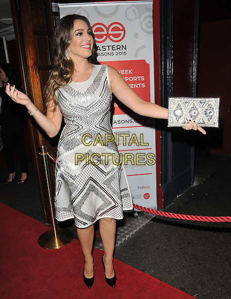 Kelly Brook attends the Eastern Seasons Week gala dinner, Madame Tussaud's ( London ), Marylebone Road, London, UK, on Monday 30 November 2015.<br /> CAP/CAN<br /> &copy;Can Nguyen/Capital Pictures
