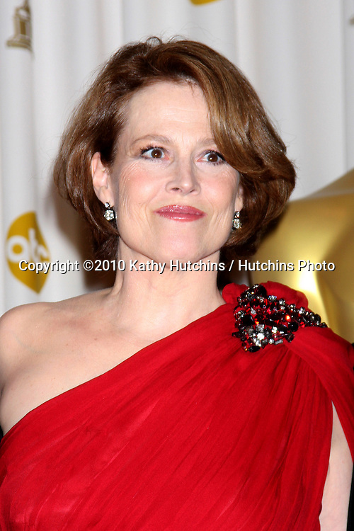 Sigourney Weaver.in the Press Room of the 82nd Academy Awards.Kodak Theater.Los Angeles, CA.March 7, 2010.©2010 Kathy Hutchins / Hutchins Photo....