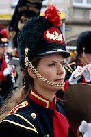 Belgien, Flandern, beim Blumenkorso in Blankenberg