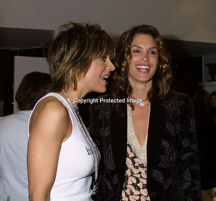"©2003 KATHY HUTCHINS / HUTCHINS PHOTO.OPENING OF THE CLOTHING BOUTIQUE OWNED BY.LISA RINNA ..""BELLE GRAY"".13812 VENTURA BLVE.SHERMAN OAKS,CA..LISA RINNA  .CINDY CRAWFORD"