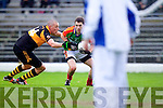 Kieran Donaghy Austin Stacks in action against Ger Hartnett Mid Kerry in the Kerry Senior County Football Final at Fitzgerald Stadium on Sunday.