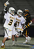 Christopher Grillo #3 of Ward Melville reacts after scoring a goal in the NYSPHSAA varsity boys lacrosse Class A state semifinals against Lakeland-Panas at Hofstra University on Wednesday, June 8, 2016