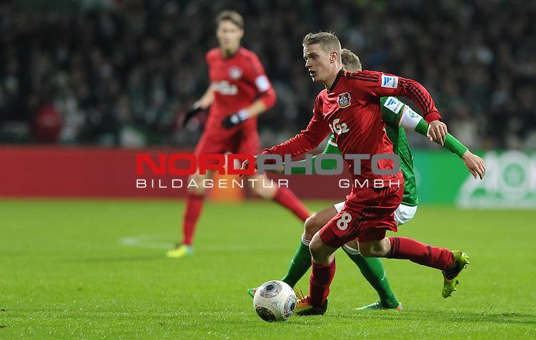 21.12.2013, Weserstadion, Bremen, GER, 1.FBL, Werder Bremen vs Bayer Leverkusen, im Bild Lars Bender (Leverkusen #8)<br /> <br /> Foto &copy; nordphoto / Frisch