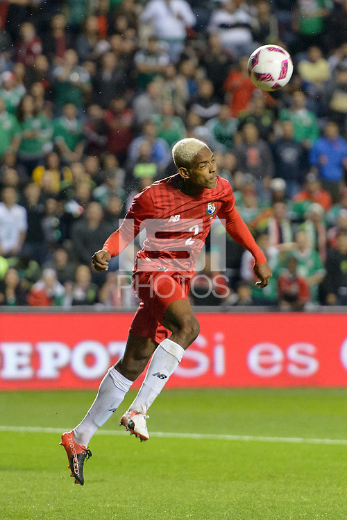 Bridgeview, IL, USA - Tuesday, October 11, 2016: Panama defender Azmahar Ariano (2) during an international friendly soccer match between Mexico and Panama at Toyota Park. Mexico won 1-0.