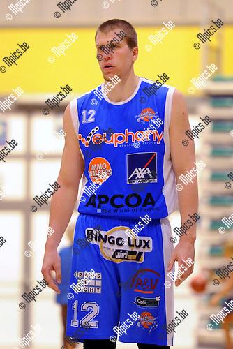 2013-09-10 / Basketbal / seizoen 2013-2014 / Kangoeroes Willebroek / Thomas De Taey<br /><br />Foto: Mpics.be