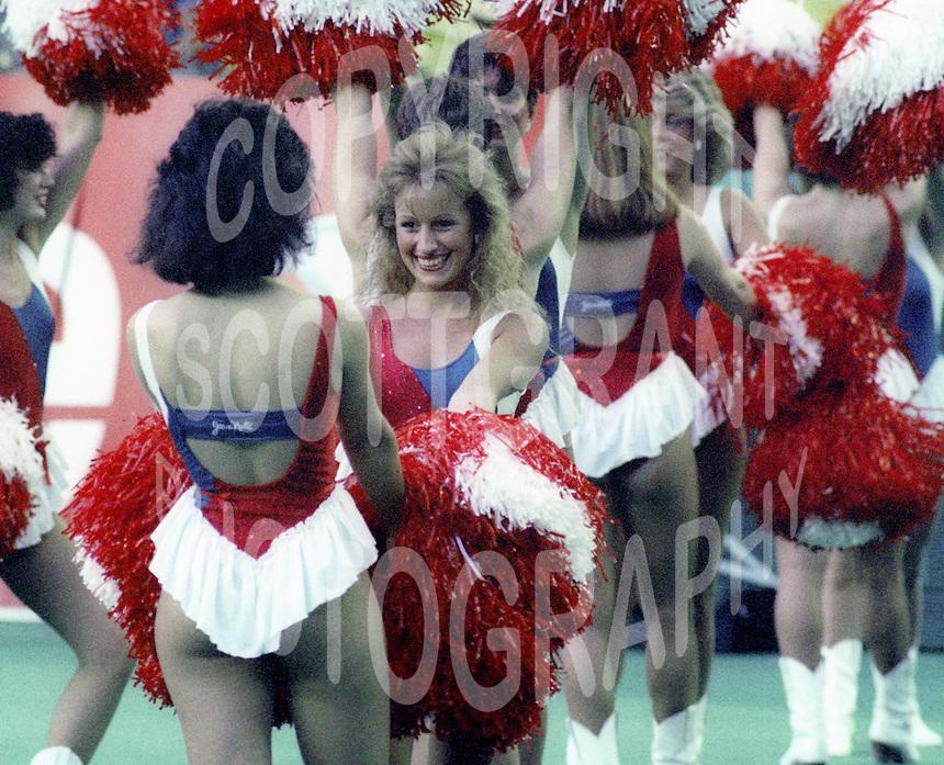 Montreal Concordes Cheerleaders 1985. Photo F. Scott Grant