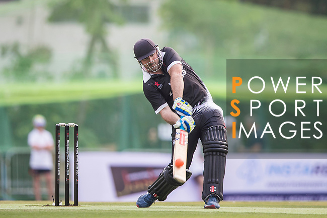 Shanan Stewart of New Zealand Kiwis hits a shot during Day 1 of Hong Kong Cricket World Sixes 2017 Group B match between New Zealand Kiwis vs Bangladesh at Kowloon Cricket Club on 28 October 2017, in Hong Kong, China. Photo by Vivek Prakash / Power Sport Images