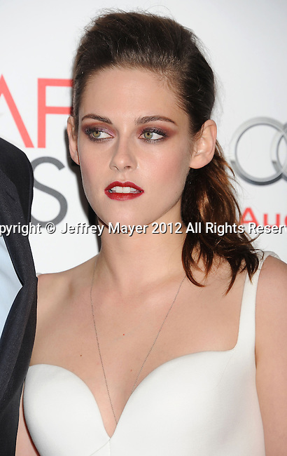 LOS ANGELES, CA - NOVEMBER 03: Kristen Stewart arrives at the 2012 AFI FEST - 'On The Road' Gala Screening at Grauman's Chinese Theatre on November 3, 2012 in Hollywood,