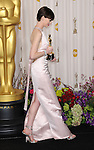 Anne Hathaway in the press room at the 85th Academy Awards, held at the Dolby Theater in Los Angeles, CA. February 24, 2013
