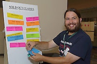 OrigamiUSA 2016 Convention at St. John's University, Queens, New York, USA. Ben Fritzson updates sold out classes.