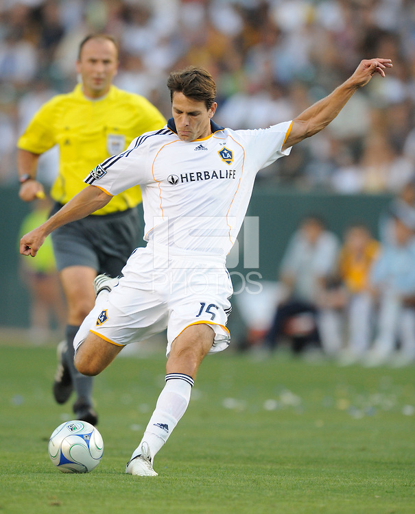 Los Angeles Galaxy's Stefani Miglioranzi during game against AC Milan at the Home Depot Center. Los Angeles Galaxy tied AC Milan 2-2 Sunday, July 19. 2009, in Carson, California. Photo by Matt A. Brown/isiphotos.com.