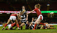 Ashlee Byrge of Barbarians tries to get through the Wales defence<br /> <br /> Photographer Ian Cook/CameraSport<br /> <br /> 2019 Autumn Internationals - Wales Women v Barbarians Women - Saturday 30th November 2019 - Principality Stadium - Cardifff<br /> <br /> World Copyright © 2019 CameraSport. All rights reserved. 43 Linden Ave. Countesthorpe. Leicester. England. LE8 5PG - Tel: +44 (0) 116 277 4147 - admin@camerasport.com - www.camerasport.com