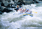 rafting on Arkansas River at the Royal Gorge near Canon City, Colorado, Rocky Mountains, USA