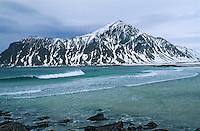 Europe/Norvège/Iles Lofoten: Plage aux environs de Flakstad