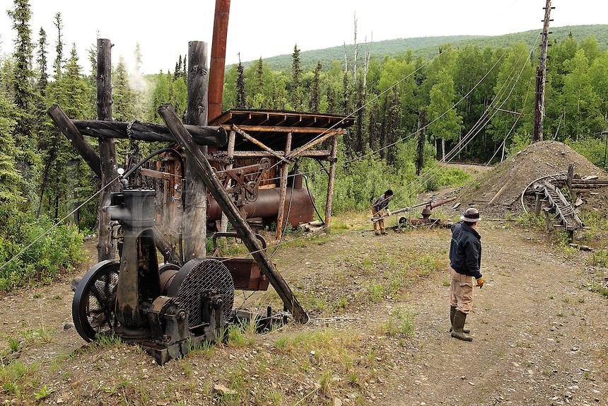 Original equipment used at the historic Eldorado Gold Mine, Fairbanks, Alaska