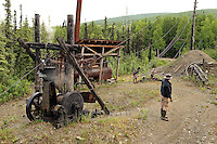 Original equipment used at the historic Eldorado Gold Mine, Fairbanks, Alaska