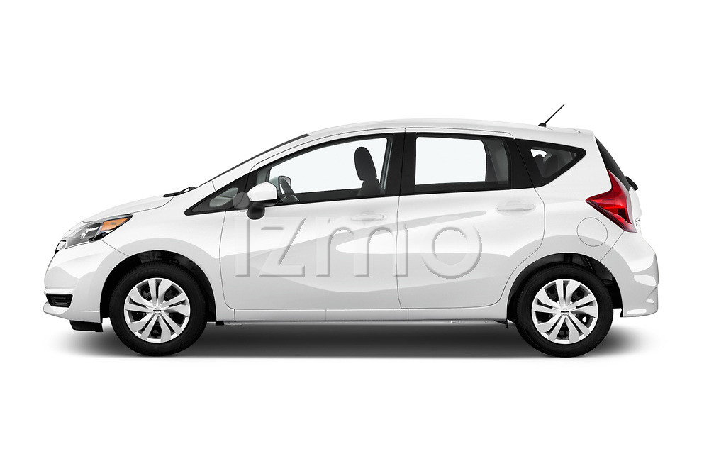 Car Driver side profile view of a 2017 Nissan Versa-Note S-Plus 5 Door Hatchback Side View