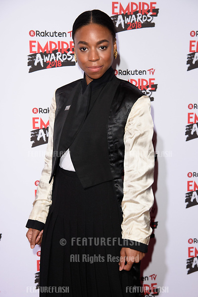 Pippa Bennett-Warner arriving for the Empire Awards 2018 at the Roundhouse, Camden, London, UK. <br /> 18 March  2018<br /> Picture: Steve Vas/Featureflash/SilverHub 0208 004 5359 sales@silverhubmedia.com