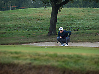 Joakim Lagergreen (SWE) in action on the 2nd hole during the third round of the 76 Open D'Italia, Olgiata Golf Club, Rome, Rome, Italy. 12/10/19.<br /> Picture Stefano Di Maria / Golffile.ie<br /> <br /> All photo usage must carry mandatory copyright credit (© Golffile | Stefano Di Maria)