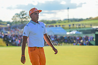 Rickie Fowler (USA) departs 18 following Sunday's round 4 of the 117th U.S. Open, at Erin Hills, Erin, Wisconsin. 6/18/2017.<br /> Picture: Golffile | Ken Murray<br /> <br /> <br /> All photo usage must carry mandatory copyright credit (&copy; Golffile | Ken Murray)