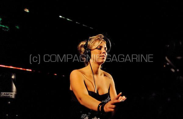 Dutch deejay Korsakoff (Lindsay van der Eng) playing at the Laundry Day festival in Antwerp (Belgium, 06/09/2008)