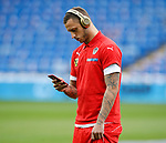 Marko Arnautovic of Austria walks out on the pitch before  the World Cup Qualifying Group D  match at the Cardiff City Stadium, Cardiff. Picture date 2nd September 2017. Picture credit should read: Simon Bellis/Sportimage