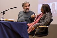 (From L to R) Slavoj Zizek &amp; Purna Sen. <br />