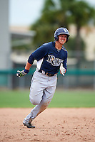 GCL Rays second baseman Michael Brosseau (6) running the bases during the second game of a doubleheader against the GCL Red Sox on August 9, 2016 at JetBlue Park in Fort Myers, Florida.  GCL Rays defeated GCL Red Sox 9-1.  (Mike Janes/Four Seam Images)