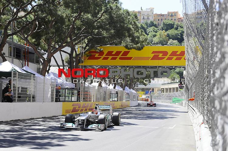 28.05.2011, Circuit de Monaco, Monte Carlo, MCO, Großer Preis von Monaco, Monte Carlo, RACE 06, im Bild  DHL Branding - Michael Schumacher (GER), Mercedes GP    Foto © nph / Dieter Mathis