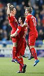 Ian Black celebrates his goal with Darren McGregor and David Templeton