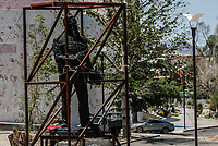 Estatua de Venustiano Carranza a un costado del Museo Regional de Sonora, MUSAS.