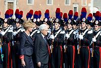 Roma, 2 Giugno 2017<br /> Roberta Pinotti, Sergio Mattarella<br /> 71&deg;anniversario Festa della Repubblica