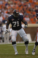 24 September 2005:Virginia guard Branden Albert (71)..Virginia Cavaliers defeated the Duke Blue Devils 38-7 at Scott Stadium in Charlottesville, VA.