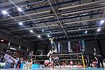 29.10.2017, Arena Kreis Dueren, Dueren<br />Volleyball, Bundesliga MŠnner / Maenner, Normalrunde, SWD powervolleys DŸren / Dueren vs. United Volleys RheinMain<br /><br />Aufschlag / Service Marvin Prolingheuer (#8 Dueren)<br /><br />  Foto &copy; nordphoto / Kurth