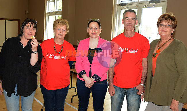 Sinead McArdle, Belinda Smith, Fiona Carroll, ToM Ryan and Joe Doyle at the MS Coffee Morning on St. Peter's Church Hall. www.newsfile.ie