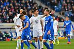 15.02.2020, PreZero-Arena, Sinsheim, GER, 1. FBL, TSG 1899 Hoffenheim vs. VFL Wolfsburg, <br /> <br /> DFL REGULATIONS PROHIBIT ANY USE OF PHOTOGRAPHS AS IMAGE SEQUENCES AND/OR QUASI-VIDEO.<br /> <br /> im Bild: Robin Knoche (#31, VfL Wolfsburg)<br /> <br /> Foto © nordphoto / Fabisch