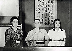 Takijiro Onishi (2 June 1891 - 16 August 1945) was an admiral in the Imperial Japanese Navy during World War II, who came to be known as the father of the kamikaze. At the end of the War Onishi committed ritual suicide (seppuku) in his quarters following the surrender of Japan. In his suicide note he apologized to the approximately 4,000 pilots whom he had sent to their deaths, and urged all young civilians who had survived the war to work towards rebuilding Japan and peace among nations. Pictured here at Matsutani-tei at his last gathering with his family. (Photo by Kingendai Photo Library/AFLO)