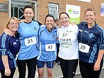 Elaine Smith, Sheena Elliott, Agnes McGonagle, Tina O'Reilly and Jene Kelly who took part in the St Colmcille's Meath Coast Rehab 10k run. Photo:Colin Bell/pressphotos.ie