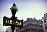 Europe, FRA, France, Paris, Metro, Subway Station, Detail, Sign....[ For each utilisation of my images my General Terms and Conditions are mandatory. Usage only against use message and proof. Download of my General Terms and Conditions under http://www.image-box.com or ask for sending. A clearance before usage is necessary...Material is subject to royalties. Each utilisation of my images is subject to a fee in accordance to the present valid MFM-List...Contact | archive@image-box.com | www.image-box.com ]