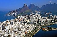 Vista aérea do bairro Ipanema e Leblon. Rio de Janeiro. 2002. Foto de Ricardo Azoury.