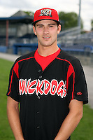 August 26 2008:  Pitcher Jason Buursma of the Batavia Muckdogs, Class-A affiliate of the St. Louis Cardinals, during a game at Dwyer Stadium in Batavia, NY.  Photo by:  Mike Janes/Four Seam Images