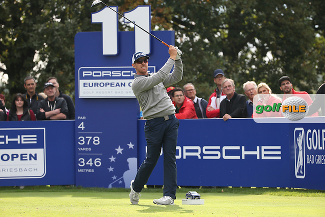 Hunter Mahan (USA) during the First Round of the Porsche European Open 2015 played at Golf Resort Bad Griesbach, Bad Griesbach, Germany.  24/09/2015. Picture: Golffile | David Lloyd<br /> <br /> All photos usage must carry mandatory copyright credit (&copy; Golffile | David Lloyd)